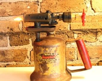 Vintage Blow Torch Lamp Accent Lamp