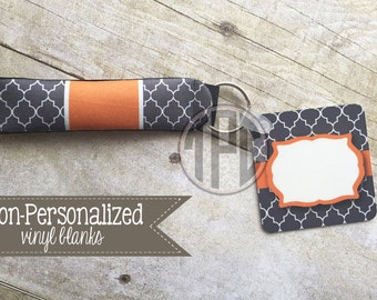 Vinyl Blank - key chain with matching wristlet - Personalize with Vinyl - Tennessee - UT - 001