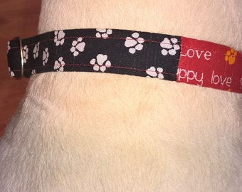 1 inch Martingale Collar (Available in your choice of fabric)