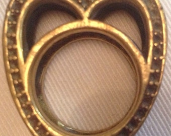 Brass heart shaped ring