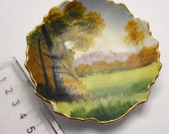 Hand painted leaf plate wall display