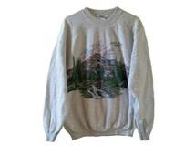 1995 Pikes Peak Colorado Vintage Sweatshirt • Colorado Scenic View • Size XL • Crew Neck Pull Over Sweatshirt • 90s Sweatshirt