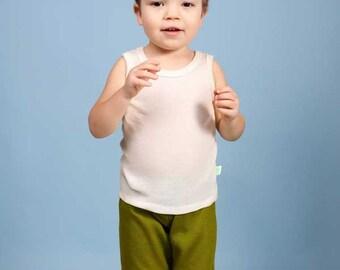 Merino wool sleeveless underwear T-shirt