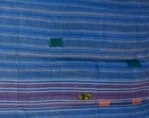 Vintage Multicolour Kantha Reversible Quilt, Kantha Bedspread, Indian Blanket, Kantha Throw, Coverlet