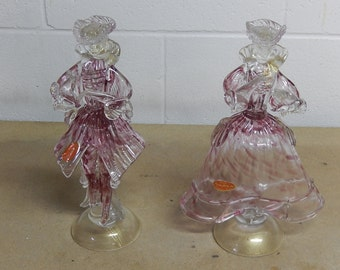 Murano glass classic dancing couple