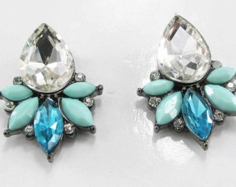 Raindrop Rhinestone Earrings