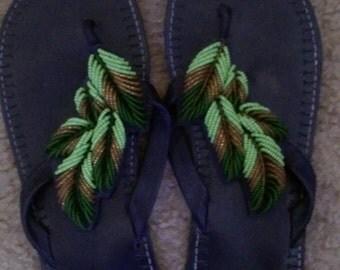 Green African Sandles