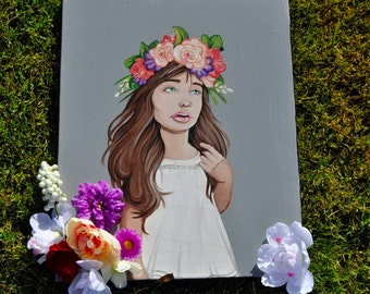 Flower girl painting