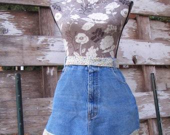 Denim & Lace apron