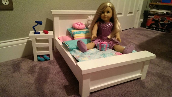 American Girl 18 Doll Solid Pine Farmhouse Bed Bedroom