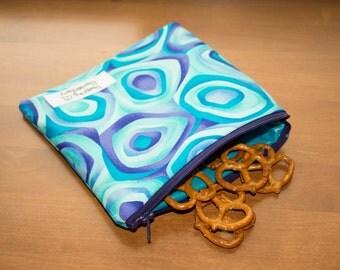 Retro Blue Reusable Sandwich Bag