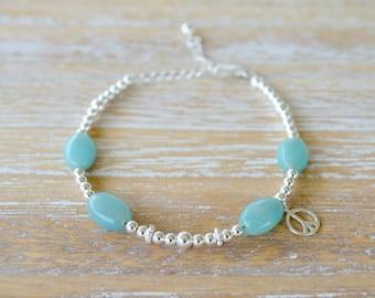 Inner Peace Bracelet - sterling silver