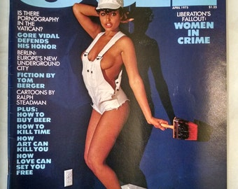 OUI Magazine April 1975 in Original Mailing Sleeve Aslan Pinup Gore Vidal