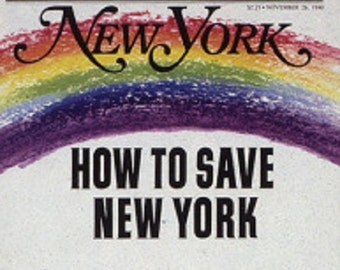 "New York ""How To Save New York"" Magazine [ 11-26-1990 issue ]"