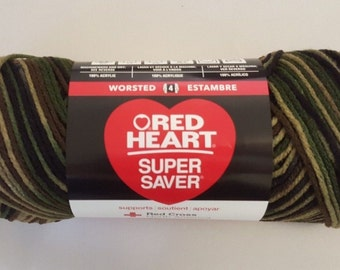 Red Heart Super Saver CAMOUFLAGE 5 oz Weight Medium 4
