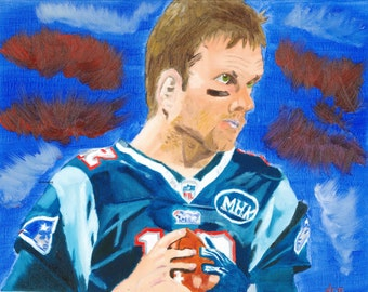 Tom Brady New England Patriots NFL OIl Painting Print