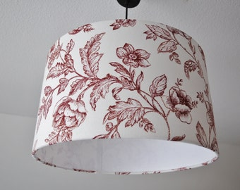 "Lampshade ""Flowers in bordeaux"""