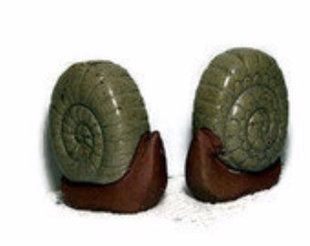 Snail Salt and Pepper Novelty Large Mid Century Vintage Salt & Pepper Set
