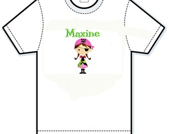 Pirate Girl Personalized t-shirt