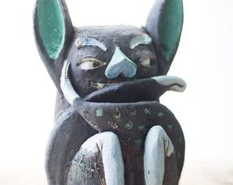 Ceramic Figurine - Stoneware Pottery - Handmade Pottery - Cute Bat - Home Decor - Ceramics And Pottery - Clay Sculpture - Birthday Gift