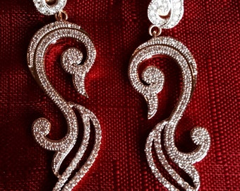CZ Earrings long and sparkly