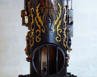 Steampunk Mech boiler
