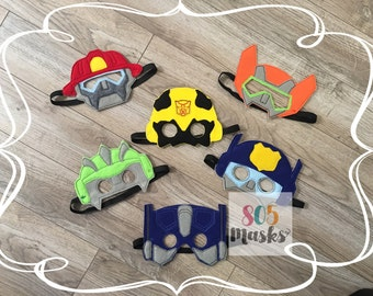 Rescue Bot Inspired masks, Kids Masks, Kids Costumes, Blades helicopter mask, Chase Police mask, Heatwave Fire Mask, Halloween costumes