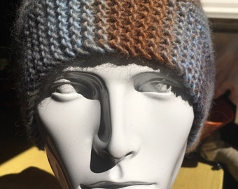 100% pure wool hand knitted hat