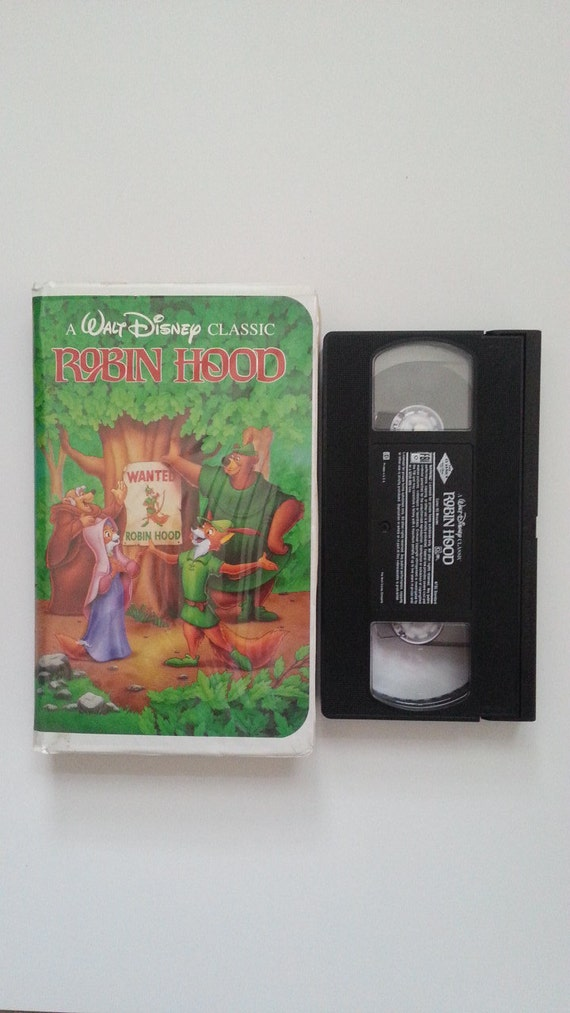 Walt Disney Robin Hood Vhs Tape Black Diamond Classic Vhs
