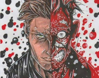 Custom made Two- Face print