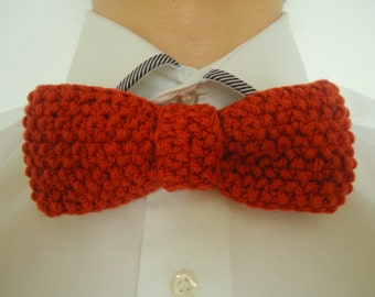 Knitted Bow Tie/Handmade Bow Tie/Brown Bow-Tie