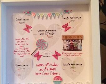 Personalised Best Friend Picture Photo Box Frame, Birthday Gift, Memories, Keepsake
