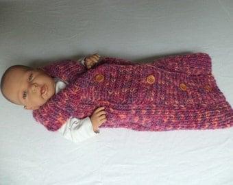 Baby sleeping bag cocoon knit wool knit 60 cm