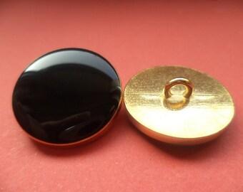 Metal button buttons 10 metal buttons black 21 mm (4709)