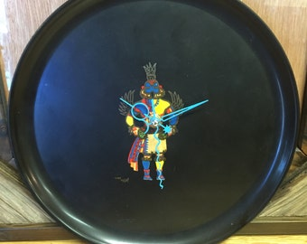 Hand-Made Kachina Plate Clock