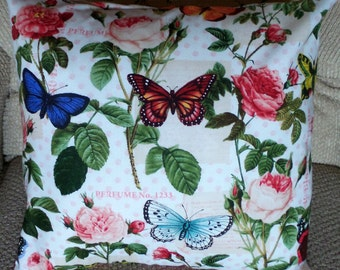 Butterflies and Roses Pillow