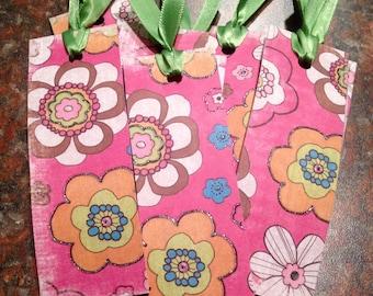 Floral Print Bookmarks
