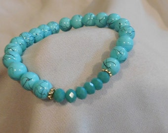 Colorful Accent Beaded Stretch Bracelet