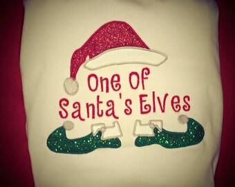 Santa's Christmas Elves Embroidered Shirt