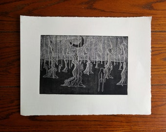 Forest: Original, Hand-pulled, 1st Edition print