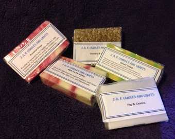 Soaps in various fragrances