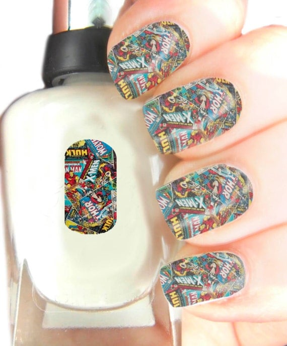 Marvel Nail Art Wraps Nail Art Decals Wraps By SimplyGiftIdeas