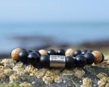 Onyx & Jasper Beaded Bracelet,Bead Bracelet,Natural Bracelet,Healing Bracelet,Stacking Bracelet,Handmade,Men's Jewellery,Men's Jewelry