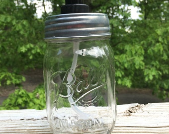 Clear Ball Mason Jar Soap Dispenser