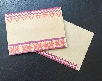 Native Designs Greeting Card - Orange//Raspberry
