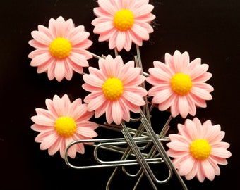 Pink Daisy Planner Paperclip