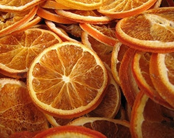 Orange Slices Dried 10 Slice in a Bag wreathmaking tea loose dried fruit  Wreath making