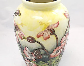 Vintage OLD TUPTON WARE Hand Painted Vase with Pink Flower Design