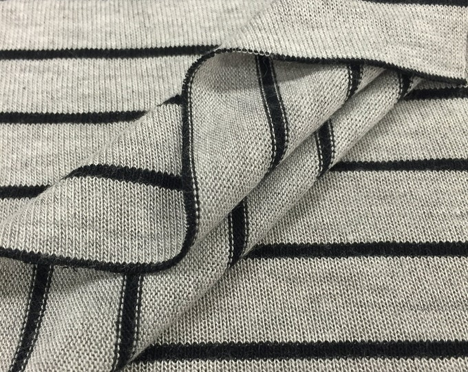 Striped Jersey Knit Fabric with Spandex