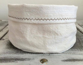Natural linen bag , bread basket,hand woven, picnic basket bread keeper storage bags, Eco friendly, rustic bag, organic food storage